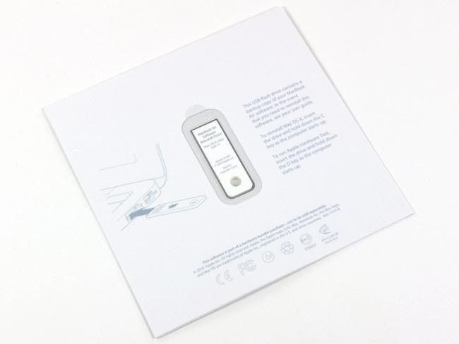 随苹果 Macbook Air笔记本电脑赠送的系统 U 盘