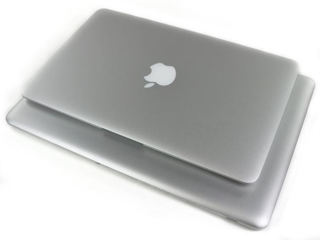 11寸和13寸苹果 Macbook Air笔记本电脑尺寸对比