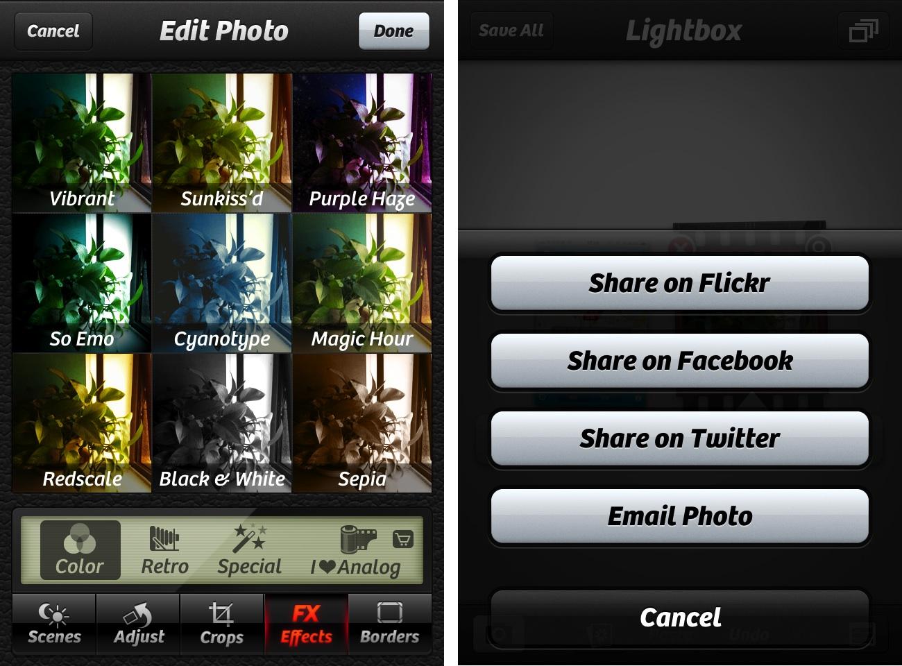苹果 iPhone 上最好的相机增强和照片编辑应用软件:Camera+