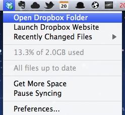 苹果电脑 Mac OS X 系统上使用 Dropbox