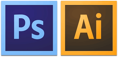 Adobe Photoshop 和 Illustrator 标志