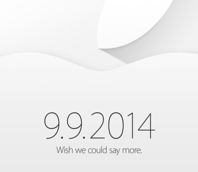 苹果 9 月 9 日新品发布会媒体邀请函